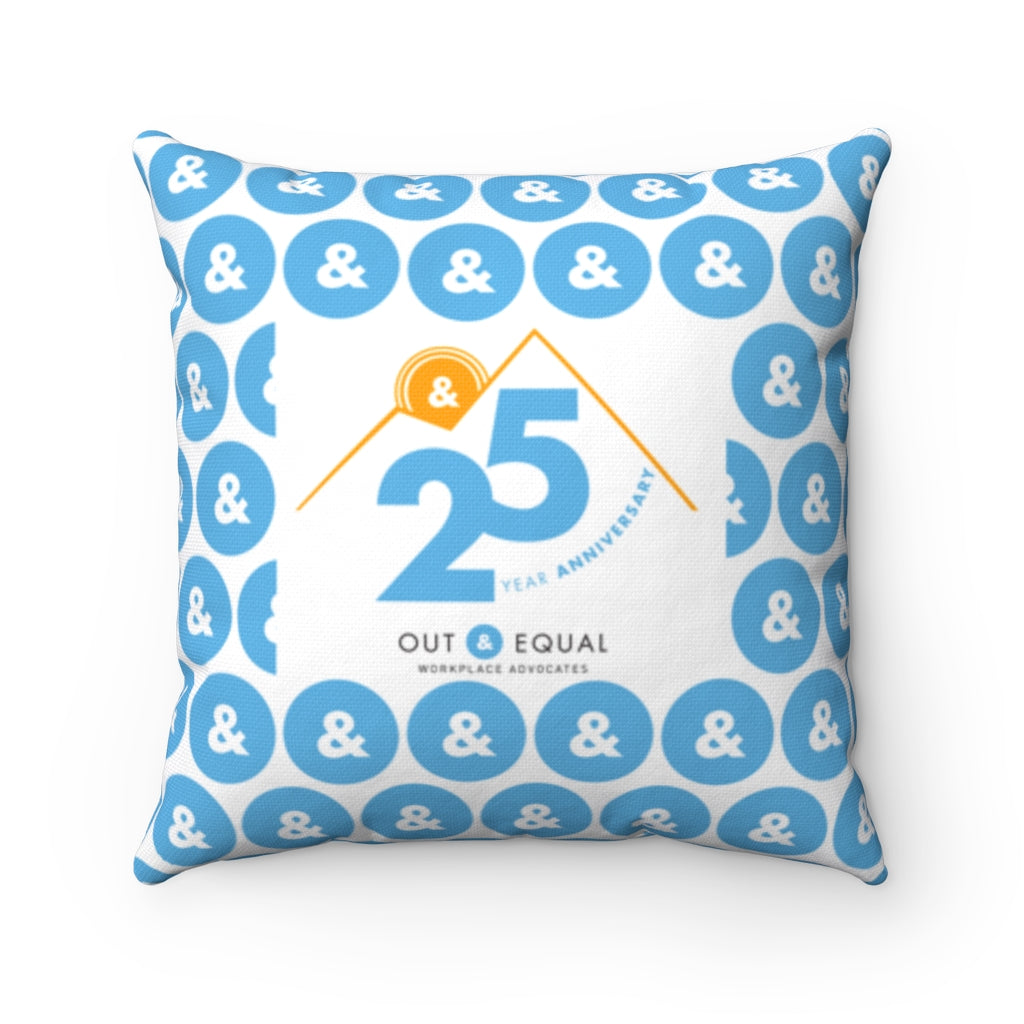 25 Year Anniversary Spun Polyester Square Pillow