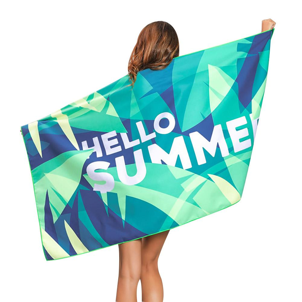 Hello Summer Quick-Drying Printing Beach Towel