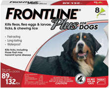 Load image into Gallery viewer, Frontline Plus Flea and Tick Treatment for Extra Large Dogs (89-132 Pounds) (8 Doses)