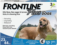 Load image into Gallery viewer, Frontline Plus Flea and Tick Treatment for Medium Dogs (23-44 Pounds) (3 Doses)