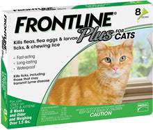 Load image into Gallery viewer, FRONTLINE Plus Flea and Tick Treatment for Cats (8 Doses)