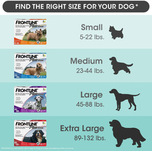 Frontline Plus Flea and Tick Treatment for Extra Large Dogs (89-132 Pounds) (8 Doses)