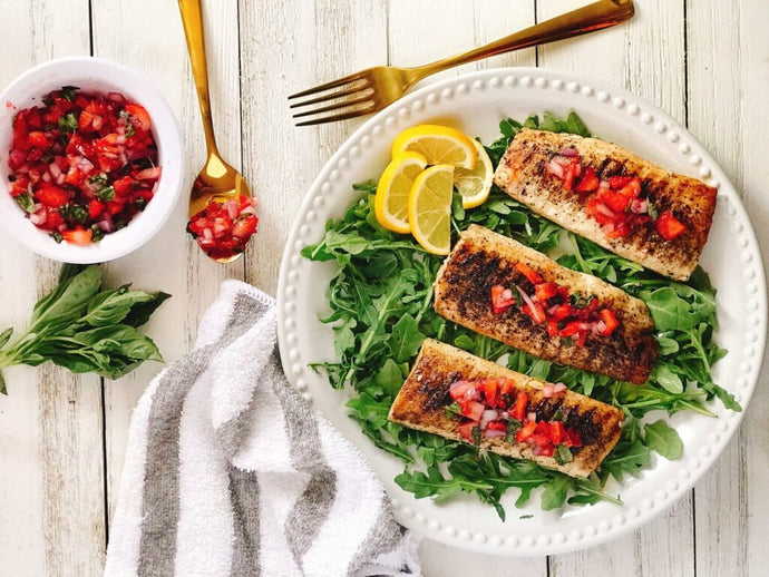 Grilled Mahi Mahi with Strawberry Basil Salsa