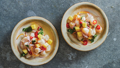 Pineapple-Lime-Ginger Scallop Ceviche