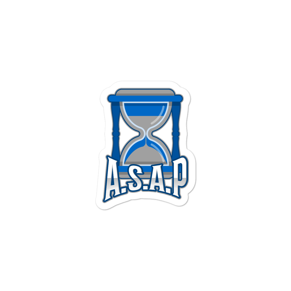 ASAP Logo Bubble-free stickers