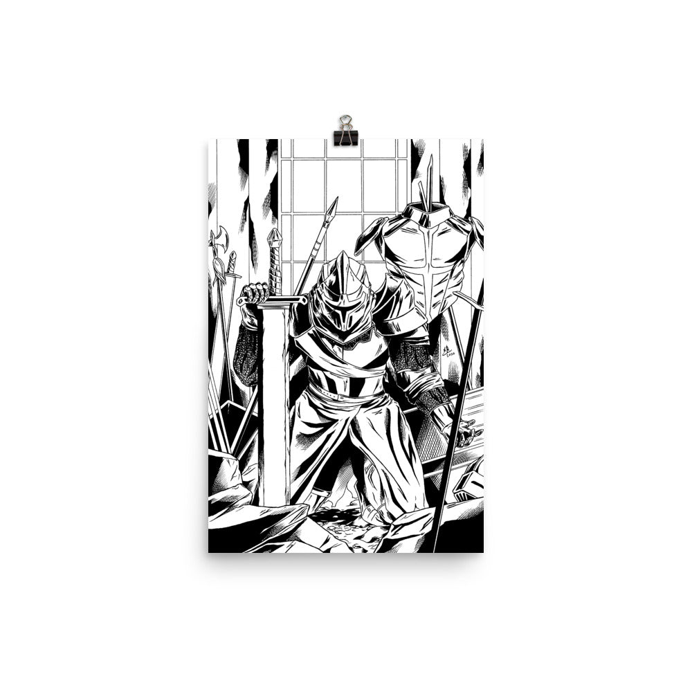 Dead of Knight Cover B/W Poster