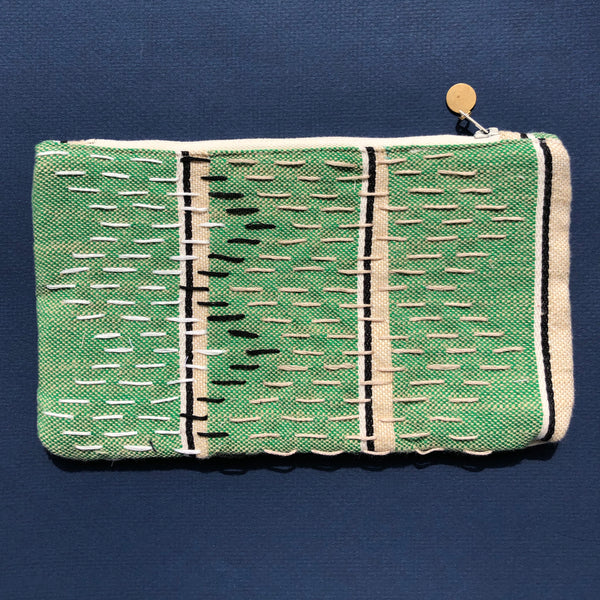 Embroidered Pouch in Estate