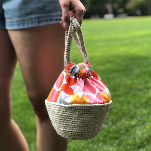 Picnic Basket Handbag in City Sunset