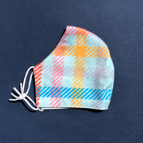 Medium Mask in Candy Plaid