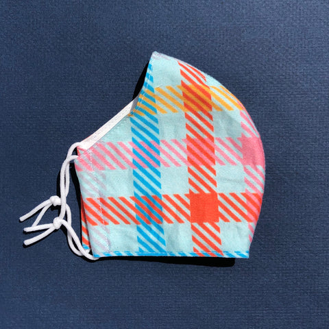 Small Mask in Candy Plaid
