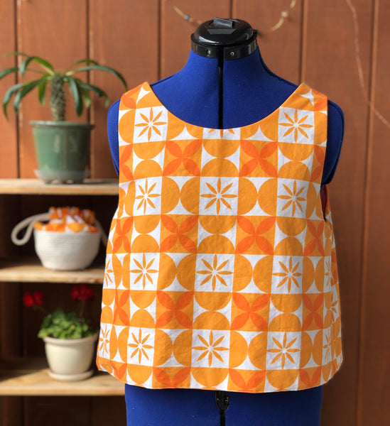 Reversible Tie-Back Top in Double Daisy