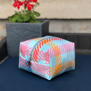Mini Dopp Kit in Candy Plaid