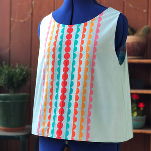 Reversible Tie-Back Top in Candy Colors