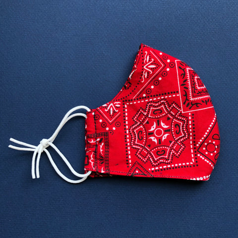 Medium Mask in Red Bandana