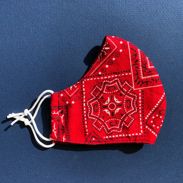 Small Mask in Red Bandana