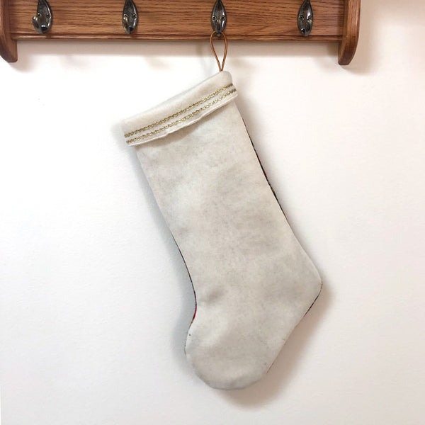 Upcycled Wool Stocking: Cream