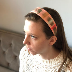 Constance Headband in Lounge Plaid