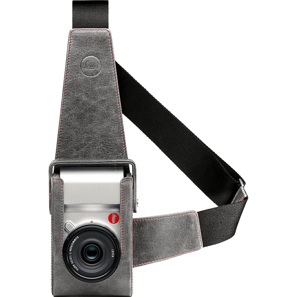 Leica Holster, leather, stone-grey