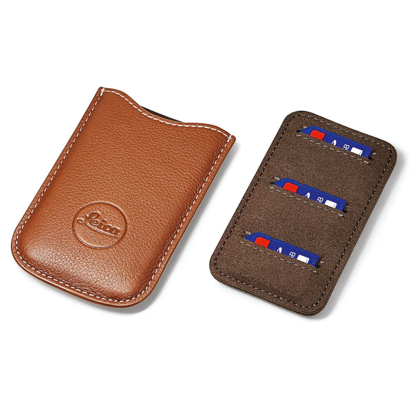 Leica SD and credit card holder, leather