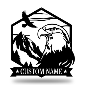 Majestic Bald Eagle Monogram