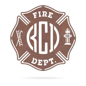 Fire Department Brigade Monogram