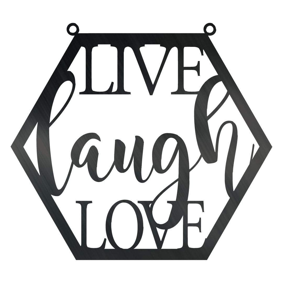 Hexagon Live Laugh Love