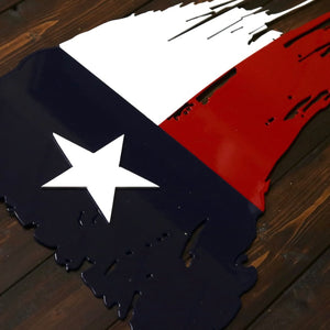 Metal Texas Flag