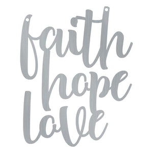 Cursive Faith Hope Love