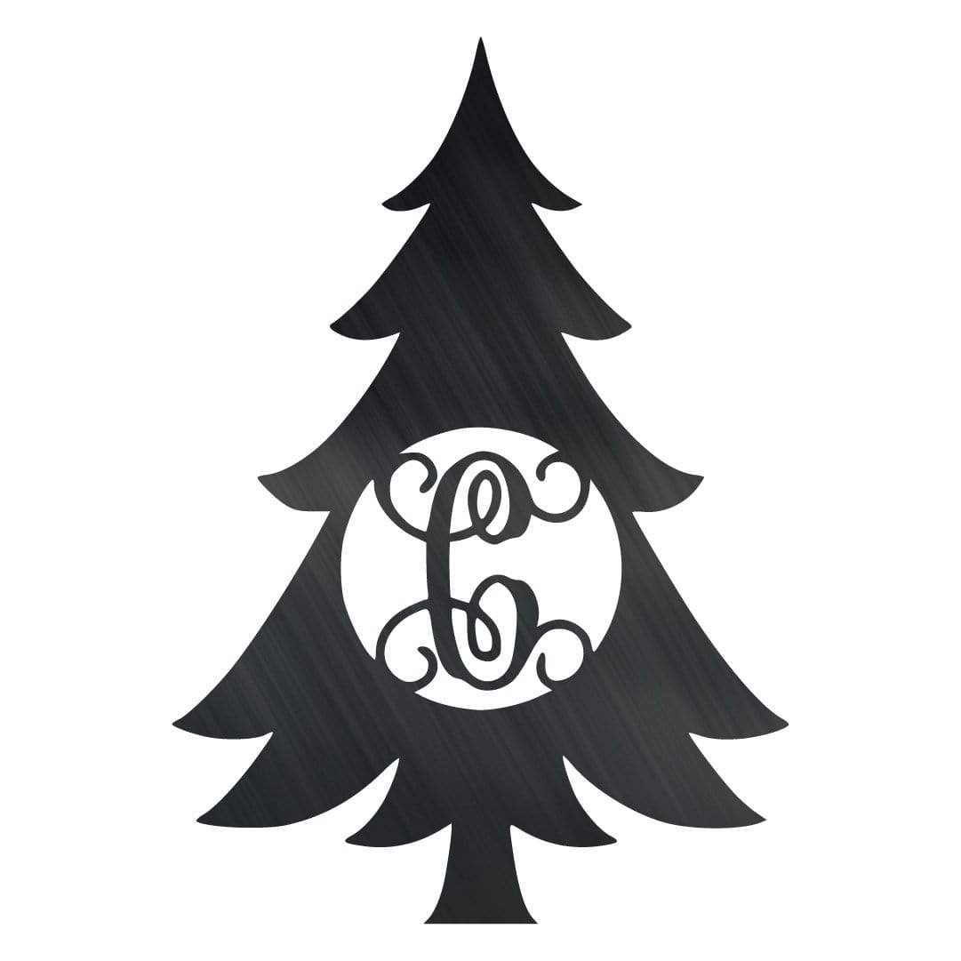Initial Christmas Swirl Ornament