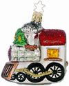 Santa' Shiny Steam Engine Ornament by Inge Glas in Neustadt bei Coburg