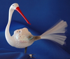 Baby on Stork Ornament by Inge Glas