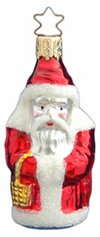 Santa with Gold Basket Ornament by Inge Glas in Neustadt bei Coburg
