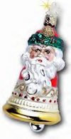 2001 Santa Annual Bell Ornament by Inge Glas