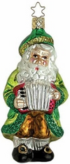 Squeeze Box Santa Ornament by Inge Glas in Neustadt bei Coburg