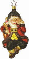 Twas the Night Before Christmas Santa Claus Ornament by Inge Glas