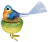 Nestled Feathers Bird Ornament by Inge Glas