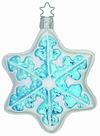 Icy Snow Blue Snowflake Ornament by Inge Glas