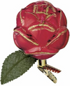 Deep Red Christmas Rose Ornament by Inge Glas in Neustadt bei Coburg