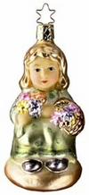 In The Garden Girl with Flowers - Life Touch Ornament by Inge Glas in Neustadt bei Coburg