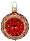 "2 1/4"" Blossom Reflect Red Shiny Ornament by Inge Glas in Neustadt bei Coburg"