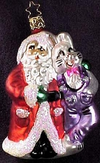 Believing in Each Other Santa Claus and Easter Bunny Ornament by Inge Glas