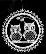 Lace Ball with Owls Ornament by Stickservice Patrick Vogel