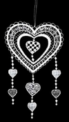 Lace Heart Hangers Ornament by Stickservice Patrick Vogel