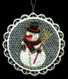 Lace Ball with Snowman Ornament by Stickservice Patrick Vogel