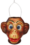 Monkey Head Pressed Paper and Cardboard Figurine by Nostalgie-Christbaumschmuck UG
