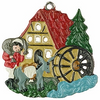 Mill, Painted on Both Sides Pewter Ornament by Kühn