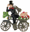 Chimney Sweep on Bike, Painted on Both Sides Pewter Ornament by Kühn
