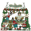 Large Frohes Fest Stand, Painted on One Side, Hanging Pewter Ornament by Kühn