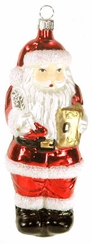 Santa with Book and Quill Ornament by Hausdorfer Glas Manufaktur