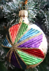 Small Colorful Star Ornament by Hausdorfer Glas Manufaktur
